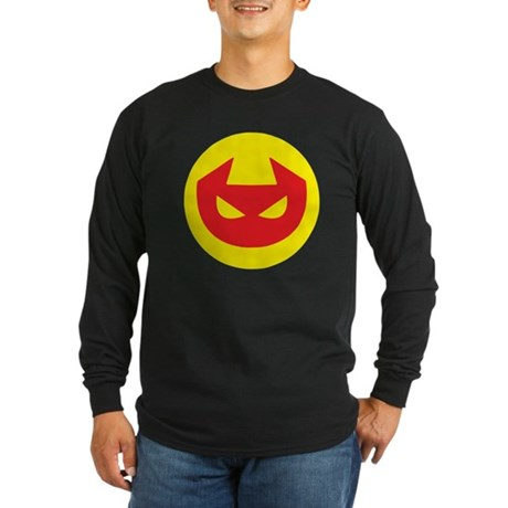 Simple Devil Icon Long Sleeve Dark T-Shirt