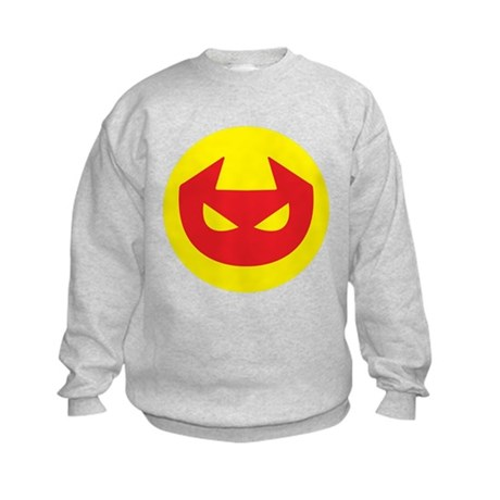 Simple Devil Icon Kids Sweatshirt