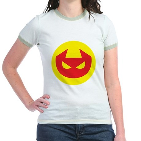 Simple Devil Icon Jr. Ringer T-Shirt