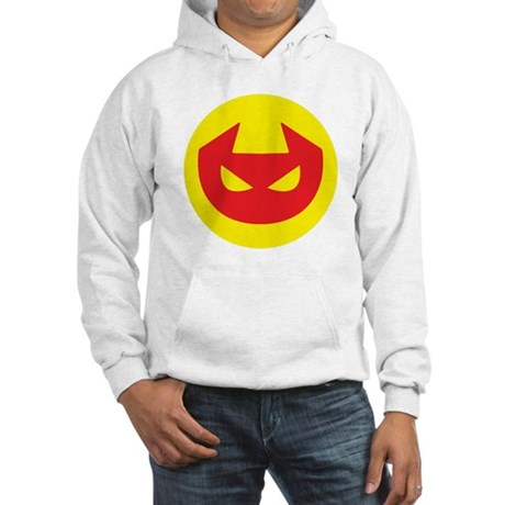 Simple Devil Icon Hooded Sweatshirt