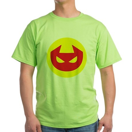 Simple Devil Icon Green T-Shirt
