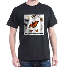 St.Louis Butterflies Black T-Shirt