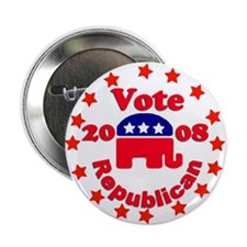 "Vote Republican Stars 2008 -2.25"" Button (10 pack)"