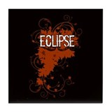 Grunge Eclipse Tile Coaster