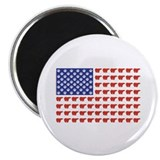 Polar Bear Patriotic Flag Print Magnet