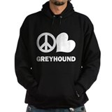 Peace Love Greyhound Hoodie