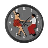 Dancing Large Wall Clock