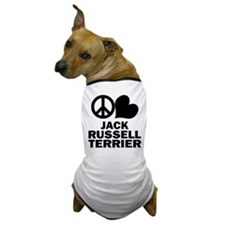 Peace Love Jack Russell Terrier Dog T-Shirt