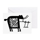 Elephant Figure Greeting Cards (Pk of 10)
