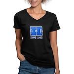 SW6 Women's V-Neck Dark T-Shirt