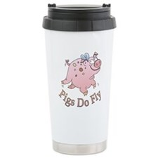 Pigs Do Fly Ceramic Travel Mug