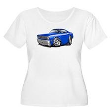 Duster Blue-White Car T-Shirt