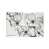Flowering Dogwood 2 Rectangle Magnet