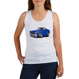 Duster Blue-Black Top Car Women's Tank Top