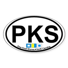 Pine Knoll Shores NC - Oval Design Decal
