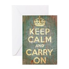KEEP CALM & CARRY ON Greeting Card