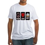 Peace Love Abby Fitted T-Shirt