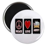 Peace Love Abby Magnet