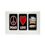 Peace Love Abby Rectangle Magnet (100 pack)