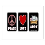 Peace Love Abby Small Poster