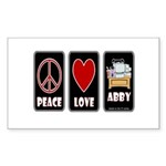 Peace Love Abby Sticker (Rectangle 50 pk)