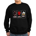 Peace Love Abby Sweatshirt (dark)