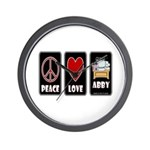 Peace Love Abby Wall Clock