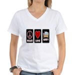 Peace Love Abby Women's V-Neck T-Shirt