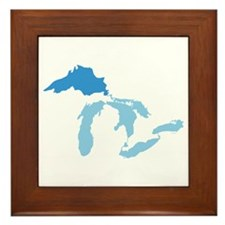 Lake Superior Framed Tile