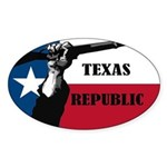 Republic of Texas Sticker (Oval)