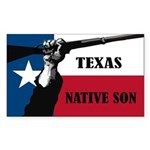 Republic of Texas Sticker (Rectangle)