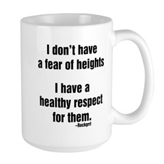No Fear of Heights Large Mug