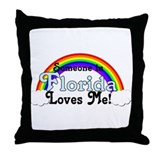 Someone in FL Loves Me Throw Pillow