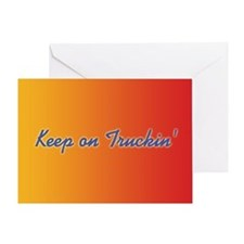 Retro Keep On Truckin Greeting Card