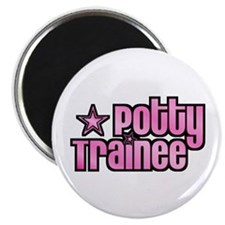 Potty Trainee Pink Girl Magnet
