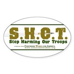 S.H.O.T. Campaign Sticker (Oval 10 pk)