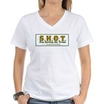 S.H.O.T. Campaign Women's V-Neck T-Shirt