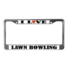 I Love Lawn Bowling License Plate Frame