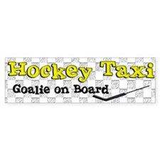 Hockey Taxi Goalie on Board Bumper Stickers