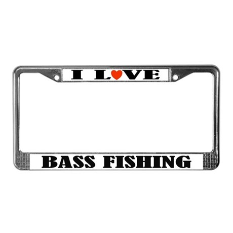 I love bass fishing license plate frame by funlicenseframe for Fishing license plate