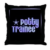 Potty Trainee Blue Boy Throw Pillow
