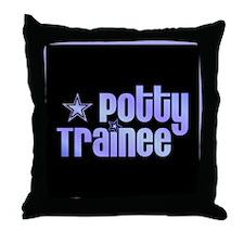 Potty Trainee Blue Boy Throw Pillow