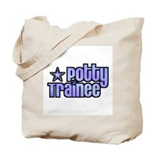Potty Trainee Blue Boy Tote Bag