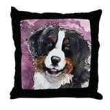 "Bernese Mt. Dog ""Eyes of Trus Throw Pillow"