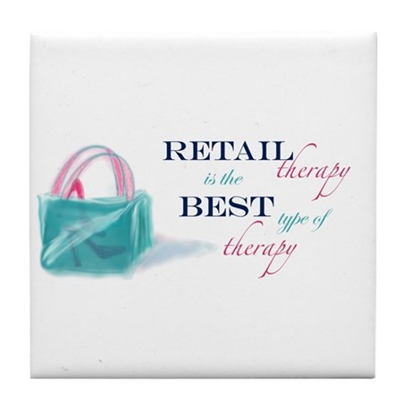 Retail Therapy Tile Coaster