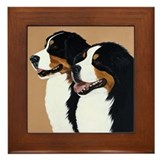 "Bernese Mountain Dogs ""Pair"" Framed Tile"
