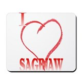 I LOVE SAGINAW Mousepad