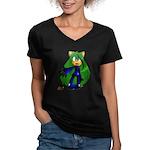 KaraKara Women's V-Neck Dark T-Shirt