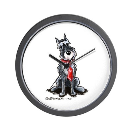 Schnauzer Dad Wall Clock
