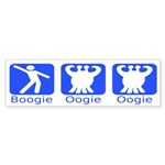 Boogie Oogie Oogie Monster Bumper Sticker
